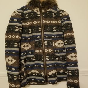 Material Girl tribal print jacket size M